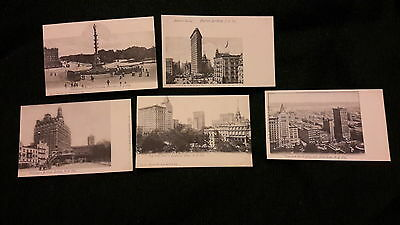 5 x old postcards of New York City -undivided back, Grand Circle Columbus Monume