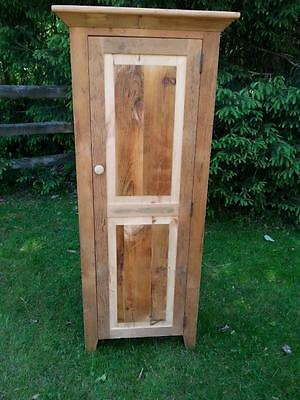 """Amish Built Reclaimed Barn Wood Pine Jelly Cabinet Cupboard - Unfinished - 60""""H"""
