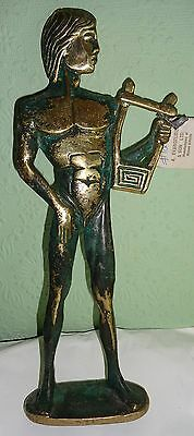 Oxidized Brass Museum Sculpture Of Apollo Cyprus Collectable/Decorative/Greek