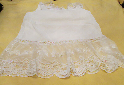 Gorgeous Vintage ARISTOCRAFT Nylon w/ Fancy Lace & Embroidery Full Slip 38 EVC