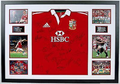 British & Irish Lions Jersey Signed & FRAMED By 2013 Squad Exact Proof AFTAL COA