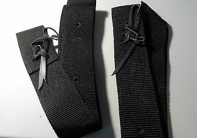 Western Saddle Straps - Tie Down Strap And The Off Billet-Black