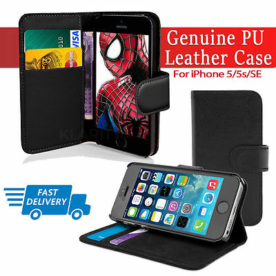 Flip Wallet Leather Case Cover For Apple iPhone 5 5S SE (014