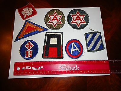 Lot Military First, Third, Fourth, Sixth, Seventh, Army, 3Rd Marne Patches