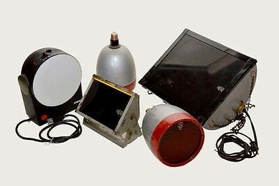 Lot of 5 Dark Room Safe lights with filters and bulbs