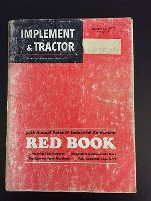 Vintage 1970 54th Annual Red Book Implement and Tractor Farm Equipment