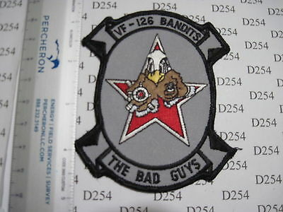 USN NAVY USMC VF-126 FIGHTER Squadron Patch Aggressor Bad Guys Bandits F16