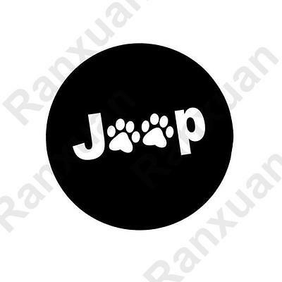 Black Paws Spare Tire Wheel Cover Protector FIT Jeep Wrangler Liberty Cherokee
