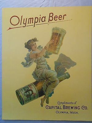 """OLYMPIA BEER CAPITAL BREWING COMPANY ADVERTISING POSTER 16"""" x 20"""""""