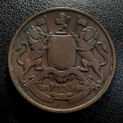 1835 East India Company 1/2 Anna Coin