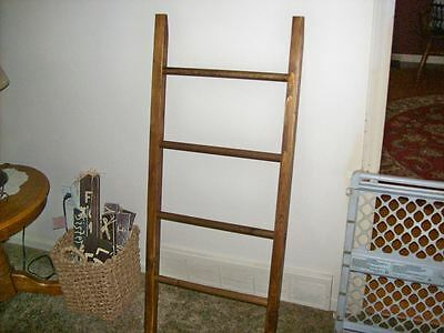 """Handcrafted Wood Leaning Quilt/Blanket/Towel Ladder, Lower Priced!  Only """"2""""!"""