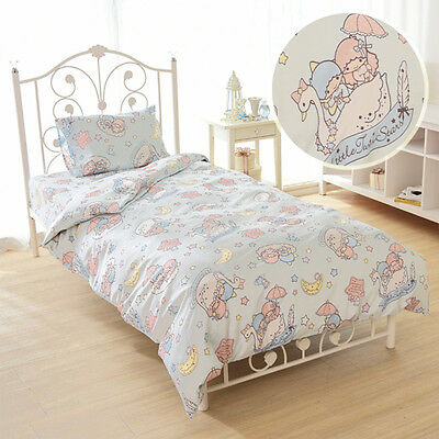 Little Twin Stars Quilt cover Pillow case  Bed sheets set SANRIO New Japan