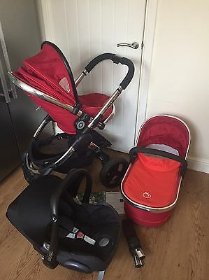 Icandy Peach ��  Pram + Maxi Cosi car seat (3 in 1 travel system)