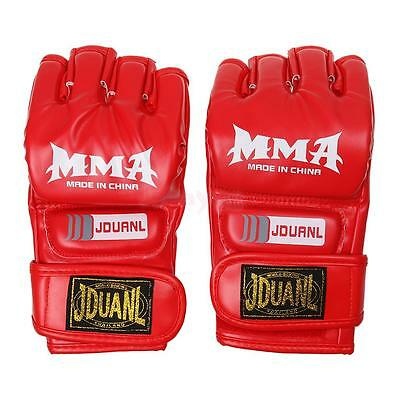 MMA UFC Grappling Thai Fight Boxing Sparring Punch Bag Training Gloves Red