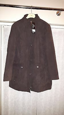 Ladies Size 14 microfibre padded jacket (Chocolate) BNWT