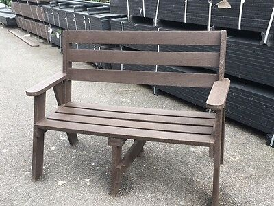 Garden Seat Chair Bench Furniture  2 Seater 100% Recycled Plastic