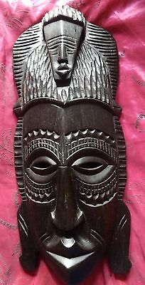 Tribal Art PNG Antique Wood Carving Large Papua New Guinea Mask Wall Decoration