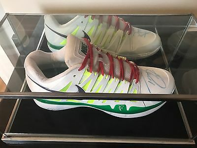 Nike Tennis Shoe Signed By Tomas Berdych & Glass Display Case