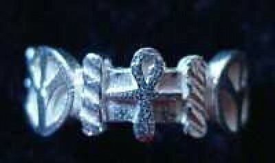 LOOK Ankh Egyptian Sterling Silver Ring Peace Egypt Jewelry
