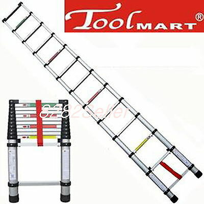 8.5ft 2.6m Folding Climb Type Aluminum Telescopic Step Ladder Purpose Extension