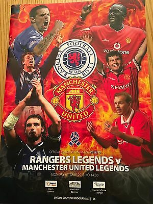 RANGERS LEGENDS v MANCHESTER UNITED LEGENDS 6.2.2013