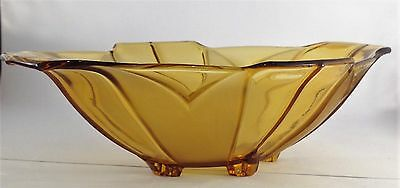 Art Deco Amber Depression Glass Bowl/Dish-Sowerby England?-1930's