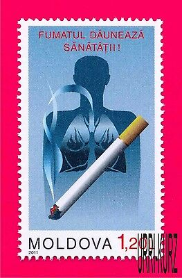 MOLDOVA 2011 Medicine Health Struggle Against Smoking Cigarets 1v Mi 768 MNH