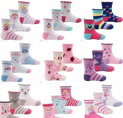3 pk ^Baby Girl Socks^ ankle girls Themed 0-2 years