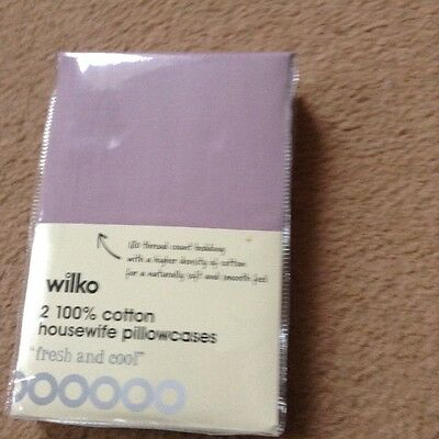 2 Brand New Lilac Cotton pillowcases