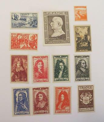 France 1944 - 45 small collection unused