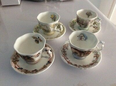 Royal Doulton Brambly Hedge Set of Miniature Cups and Saucers