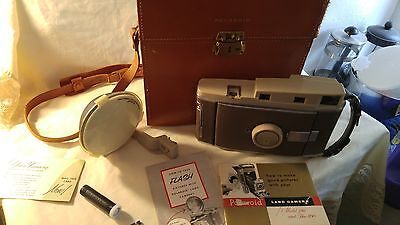 Vintage Polaroid Land Camera Model 150 With Accessories And Leather Case