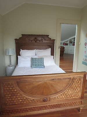 Antique parquetry double bed