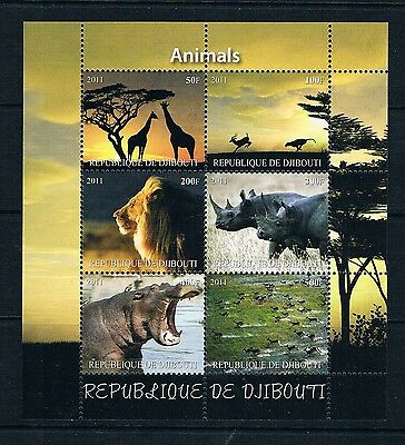 Bloc Sheet Faune Afrique Fauna  Neuf MNH ** Djibouti 2013  Private local/issue