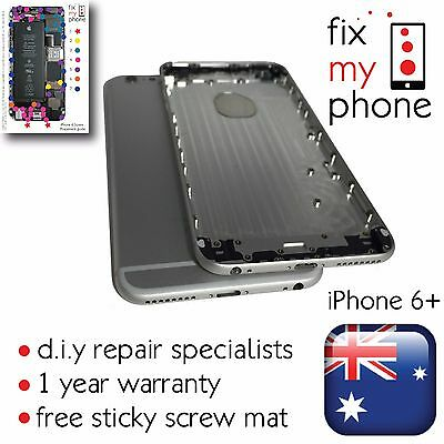 Housing Back Rear Battery Cover Case Shell Replacement For iPhone 6 plus silver