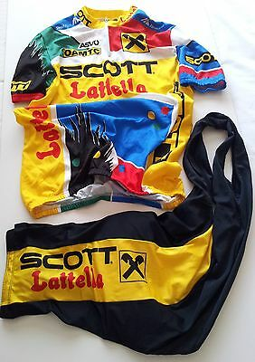 Scott Men's Cycling Jersey and Padded Bib Short Set -  made in Italy