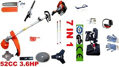 Petrol Strimmer Garden Grass Brushcutter Hedge Trimmer Chainsaw Powerful 7 In 1