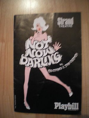 Not Now Darling, Strand Theatre Programme, 1969