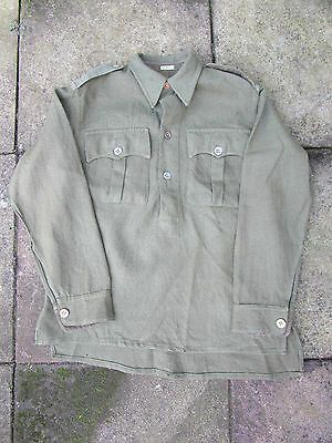WW2 British army issue, Indian made, green flannel jungle shirt Chindit JG RARE
