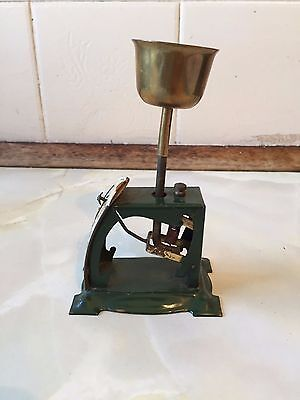 Vintage Salter Dark Green Small Postal Scales With Egg Scales Top