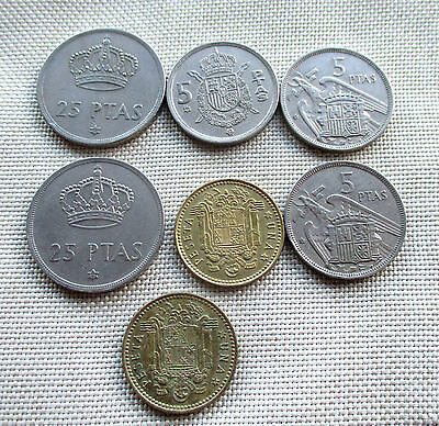 Lot of 7 Spain Coins #6