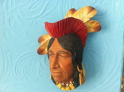 Bossons Chalkware Red Indian