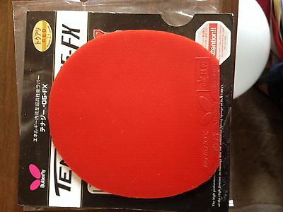 used table tennis rubber Butterfly TENERGY 05-FX  W148mm x H155mm