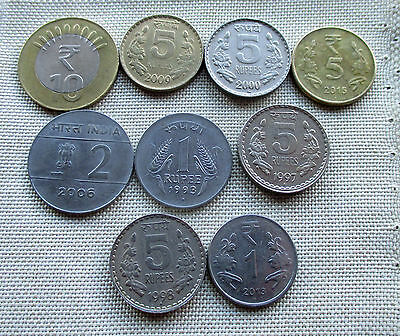 Lot of 9 India Coins #8