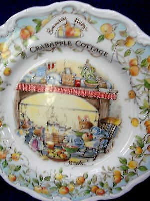 Royal Doulton England Brambly Hedge China 8Ins Plate Crabapple Cottage 1St