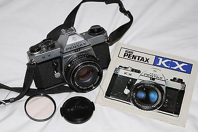 Pentax KX (K1000 + Extra Features) 35mm SLR Camera with 50mm f1.7 Lens
