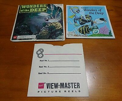 WONDERS of the DEEP 1954 GAF view master view-master
