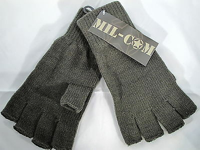 Mil-Com Fingerless Mitts Olive Green One Size Fits All Fishing Hunting Gloves
