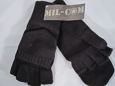 Mil-Com Shooters Mitts Black One Size Fits All Fishing Hunting Gloves