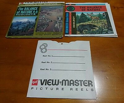 THE BALANCE OF NATURE ECOLOGY 1971 GAF view master view-master